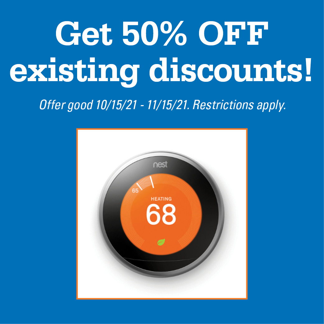 Get 50% OFF existing discounts